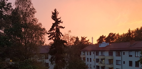 Solnedgång över Hägersten, Stockholm